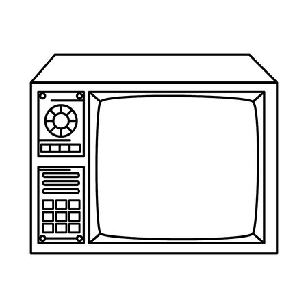 tv of nineties line style icon vector illustration design