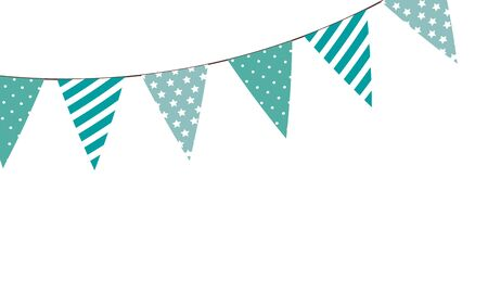 garlands hanging decoration isolated icon vector illustration design