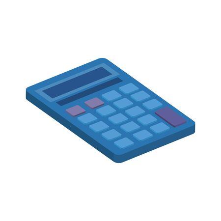 Calculadora matemática finanzas icono aislado diseño ilustración vectorial