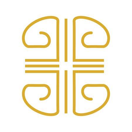 golden ethnic figure isolated icon vector illustration design Ilustração Vetorial
