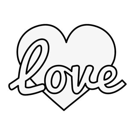 love sign with heart pop art style icon vector illustration design