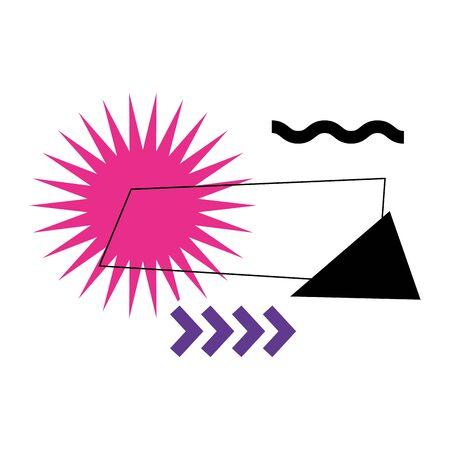 lines with geometric figure and colors vector illustration design Ilustração