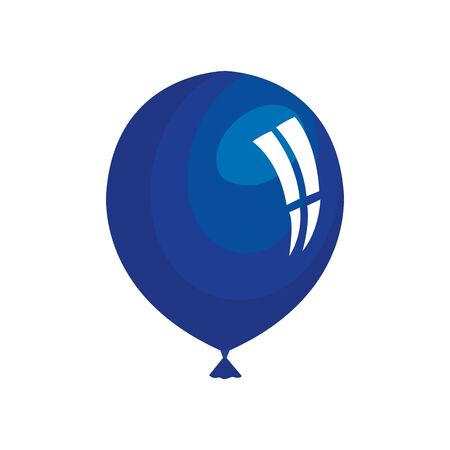 balloon helium blue isolated icon vector illustration design