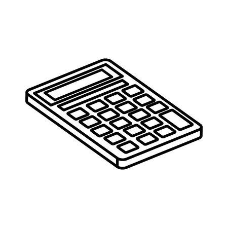 Calculatrice math finance icône isolé conception d'illustration vectorielle Vecteurs