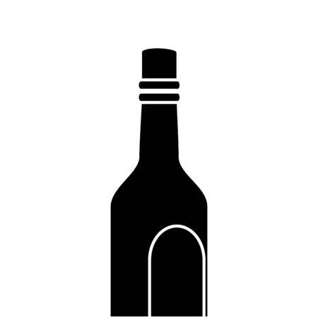 silhouette of bottle of wine isolated icon vector illustration design Ilustracja