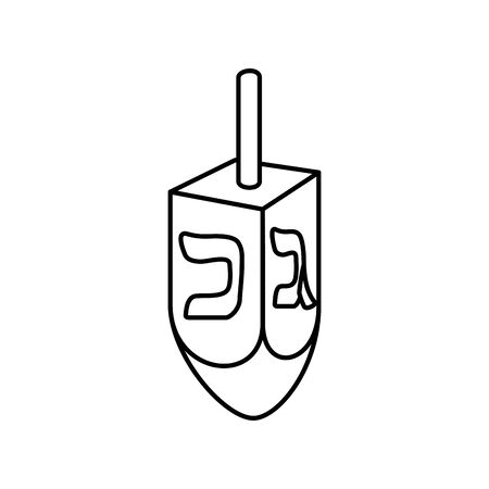 dreidel game traditional line style icon vector illustration design