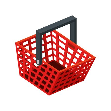 basket shopping handle isolated icon vector illustration design