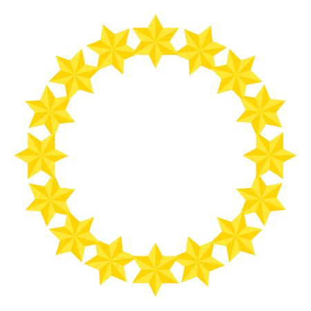 frame circular of stars david isolated icon vector illustration design