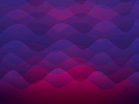 Fondo de ondas de colores rosa y morado, diseño de ilustraciones vectoriales Ilustración de vector