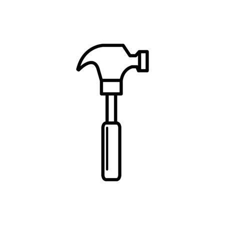 hammer design, Construction work repair reconstruction industry build and project theme Vector illustration Foto de archivo - 137544716