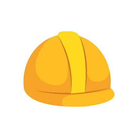 helmet design, Construction work repair reconstruction industry build and project theme Vector illustration Foto de archivo - 137548824