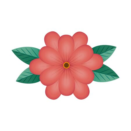 cute flower natural isolated icon vector illustration design