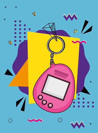 video game mascot nineties style vector illustration design