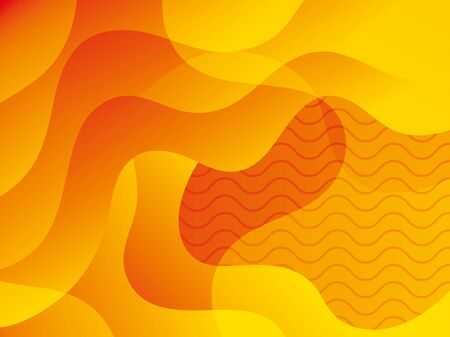 waves background yellow color icon vector illustration design 向量圖像