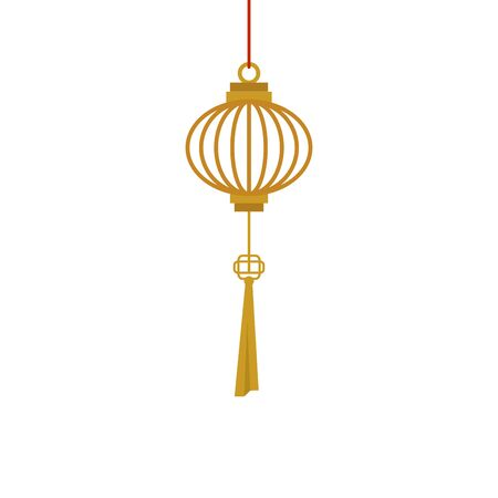 chinese decorative lamp hanging icon vector illustration design Stock fotó - 137735945