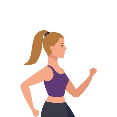 young woman athlete avatar character vector illustration design Ilustracja