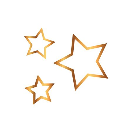 set of stars luxury isolated icon vector illustration design