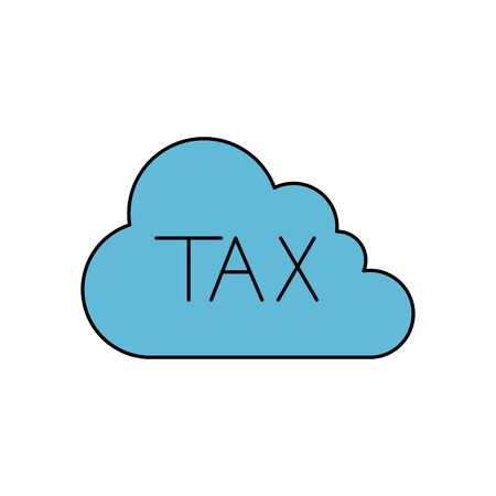 Tax cloud of financial accoounting form revenue finance government income taxation refound and paying theme Vector illustration