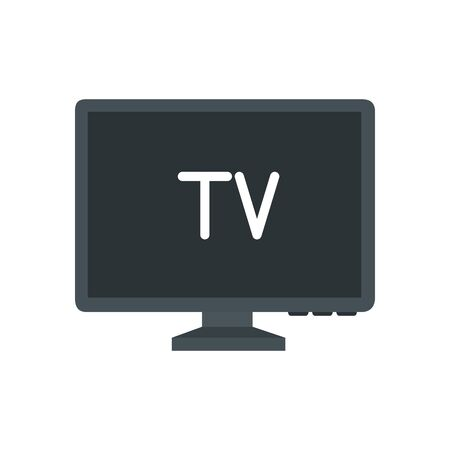 Tv icon design, Television device gadget technology electronic video screen display and home theme Vector illustration Stock fotó - 137691474
