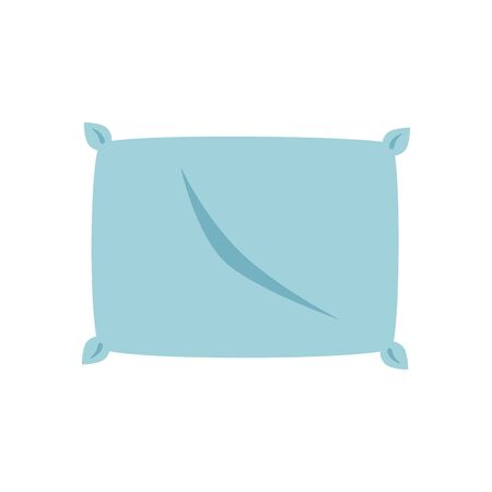 Home bed pillow design, Bedroom room sleep relaxation rest hotel relax comfort and apartment theme Vector illustration