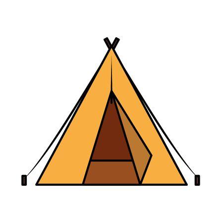 Tente camping accessoire vecteur icône isolé illustration design Vecteurs