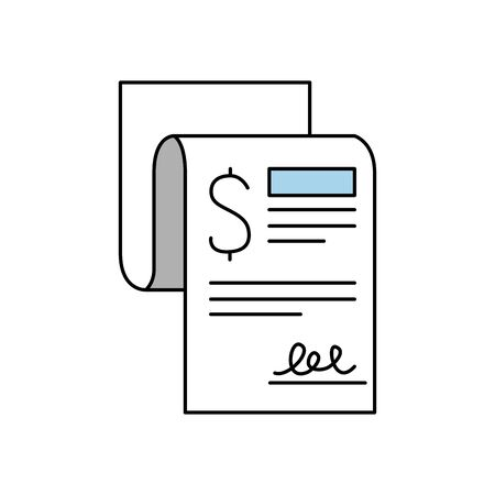 Tax document of financial accoounting form revenue finance government income taxation refound and paying theme Vector illustration