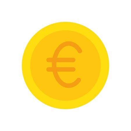 Euro coin of money financial item banking commerce market payment buy currency accounting and invest theme Vector illustration Foto de archivo - 137690918