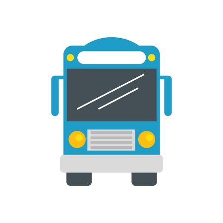 Bus design, Transportation vehicle transport wheel speed traffic road and travel theme Vector illustration
