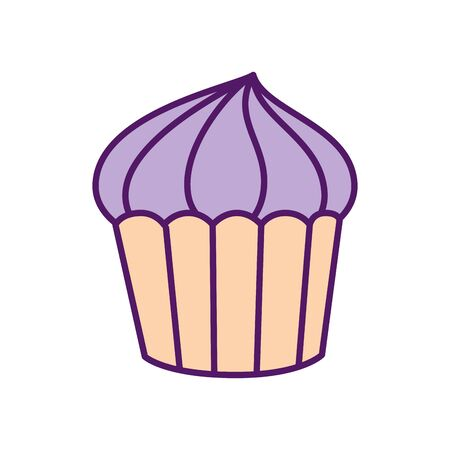 Cupcake design, Muffin dessert sweet bakery sugar pastry and food theme Vector illustration