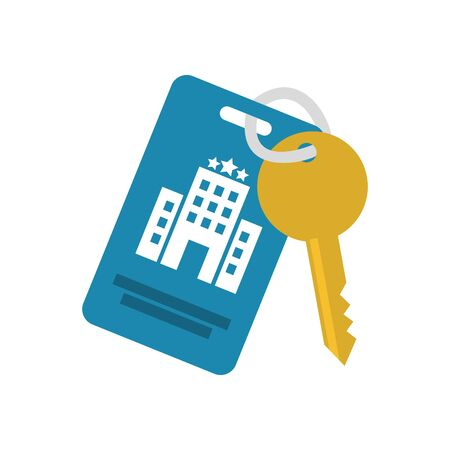 Hotel key icon design of travel service reception room resort accommodation motel lobby and vacation theme Vector illustration 版權商用圖片 - 137698196