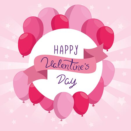 happy valentines day card vector illustration design Illustration