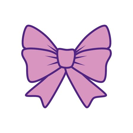 Pink gift bow tie design, happy birthday celebration decoration party festive and surprise theme Vector illustration Stock Illustratie