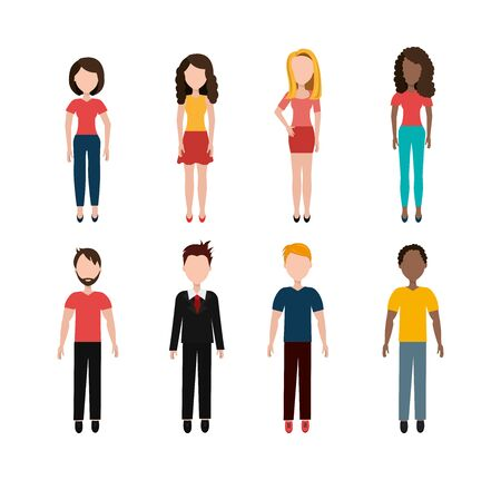 group of business people characters vector illustration design