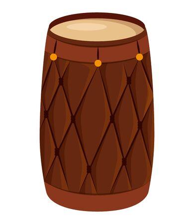 indian drum instrument traditional icon vector illustration design