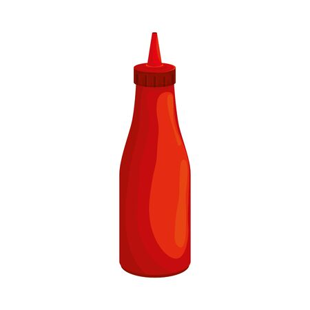 delicious sauce in bottle isolated icon vector illustration design 矢量图像