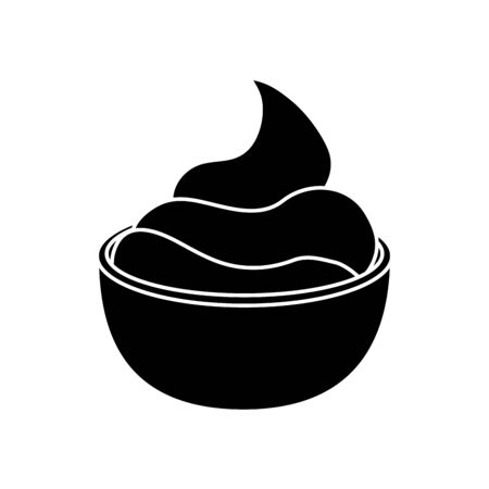delicious sauce in cup isolated icon vector illustration design