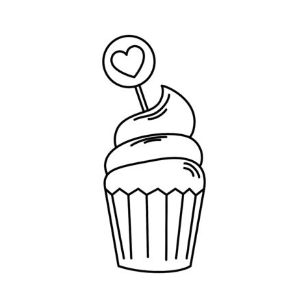 delicious and fresh cupcake in white background vector illustration design 向量圖像