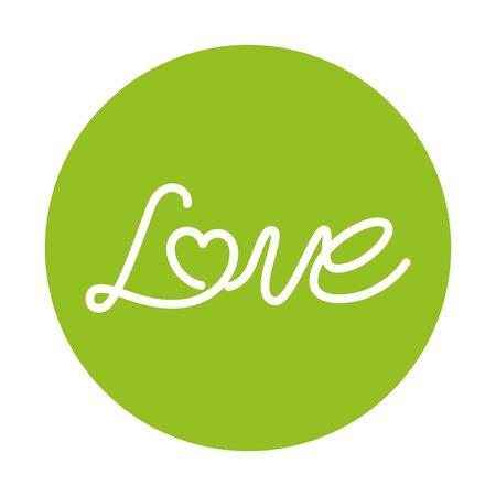 love label on green background vector illustration design