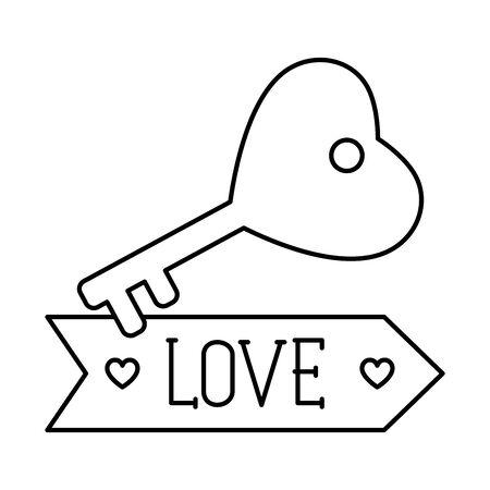 love label on white background vector illustration design Ilustrace
