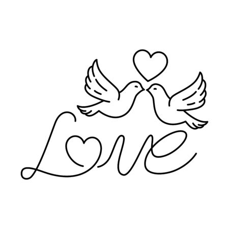 love label with doves isolated icon vector illustration design Ilustrace