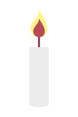 paraffin candle flame isolated icon vector illustration design