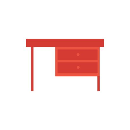 wooden desk furniture isolated icon vector illustration design 일러스트