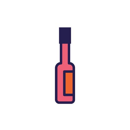 hot sauce bottle isolated icon vector illustration design Ilustracja