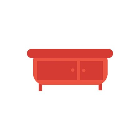 drawer wooden furniture isolated icon vector illustration design