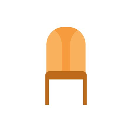 wooden chair furniture isolated icon vector illustration design Foto de archivo - 137996204