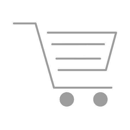 shopping cart commerce isolated icon vector illustration design Archivio Fotografico - 137999792