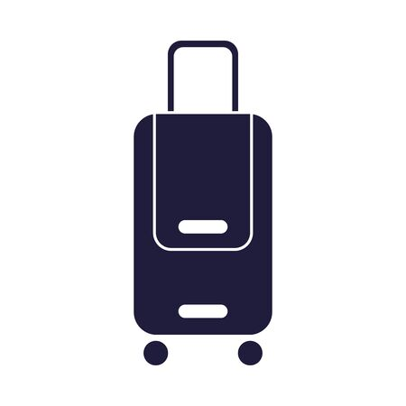 suitcase travel baggage isolated icon vector illustration design