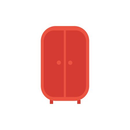 wooden closet furniture isolated icon vector illustration design