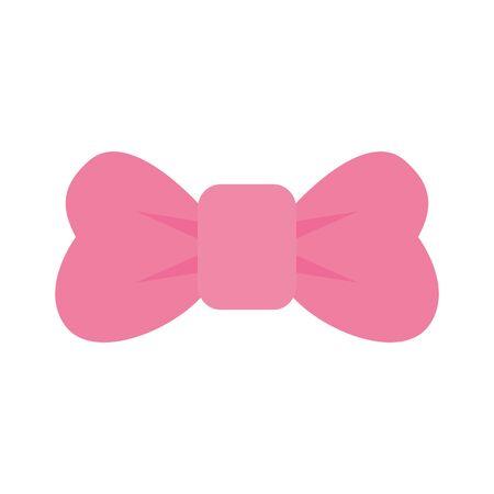cute baby necktie bow accessory vector illustration design