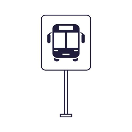 bus stop public transport icon vector illustration design